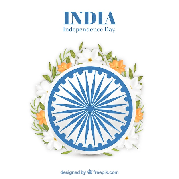 Floral india independence day design