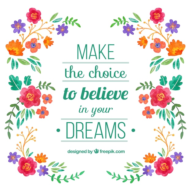 Floral Positive Motivational Quotes