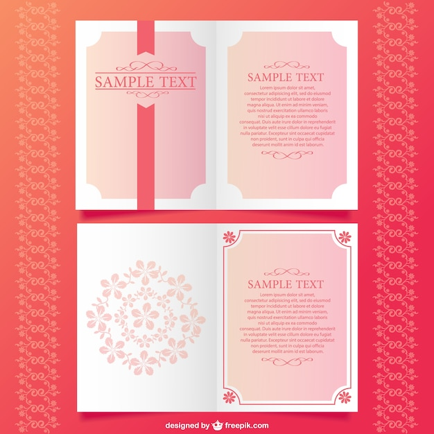 Floral invitatin mock-up desing Free Vector