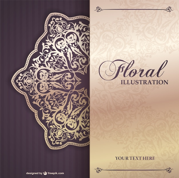 Floral invitation template Vector – Free Templates for Invitation Cards