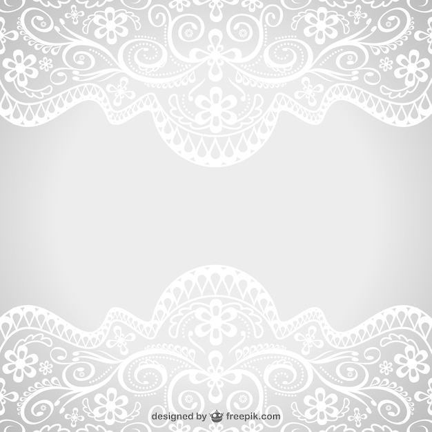 Floral lace ornaments Vector | Free Download