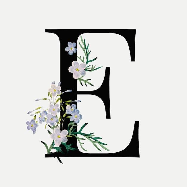 Lettera floreale e Vettore gratuito
