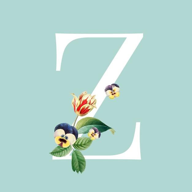 Letter Z Pictures.Floral Letter Z Design Vector Free Download