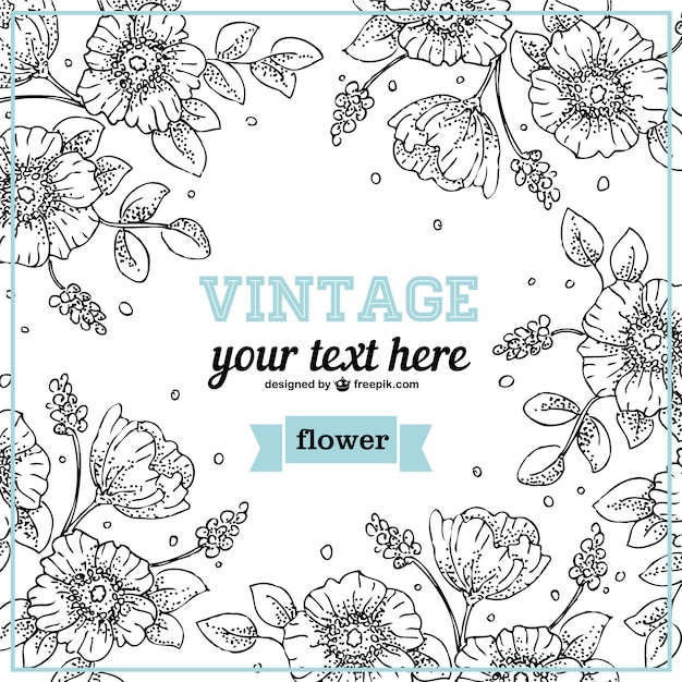 Line Drawing Vector Free : Floral line art design vector free download