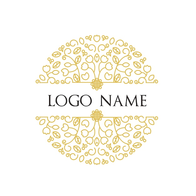 Floral Logo Template Vector Free Download