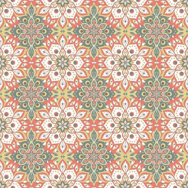 꽃 만다라 원활한 패턴 무료 벡터