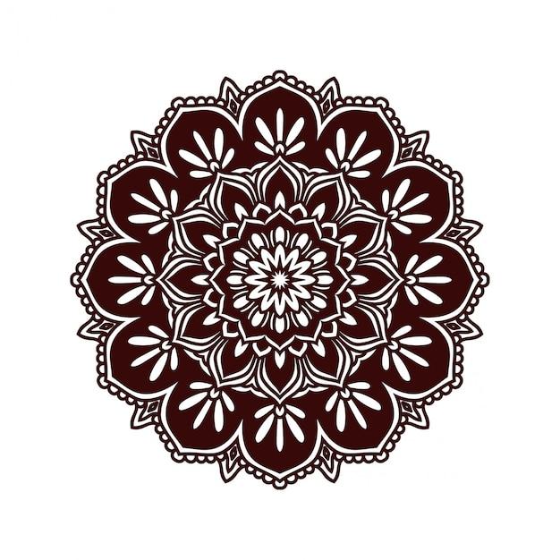 Floral mandala tattoo design Vector   Premium Download