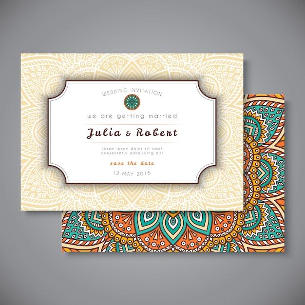Floral mandala vintage business card vector free download floral mandala vintage business card free vector reheart Gallery
