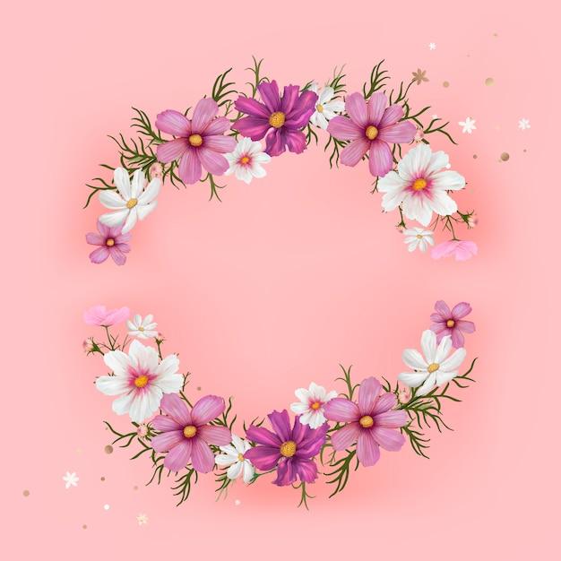Floral mockup frame illustration Free Vector