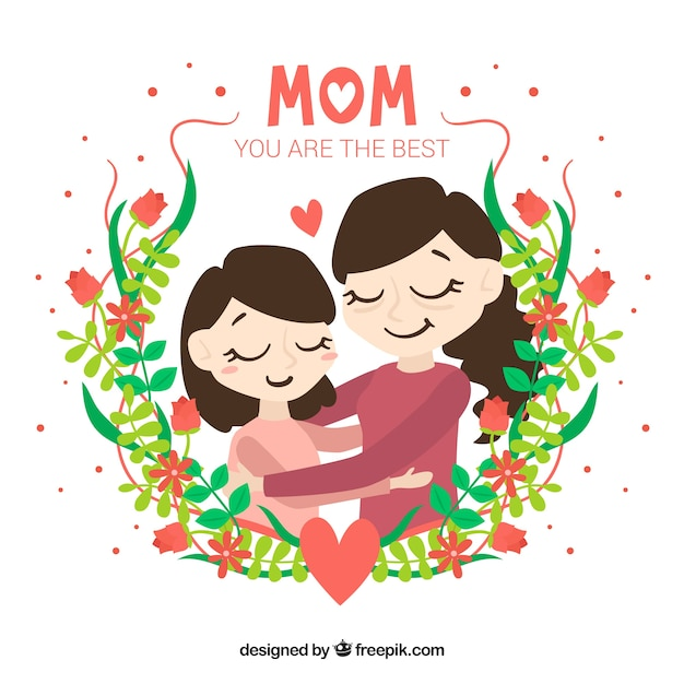 floral mother s day background vector free download