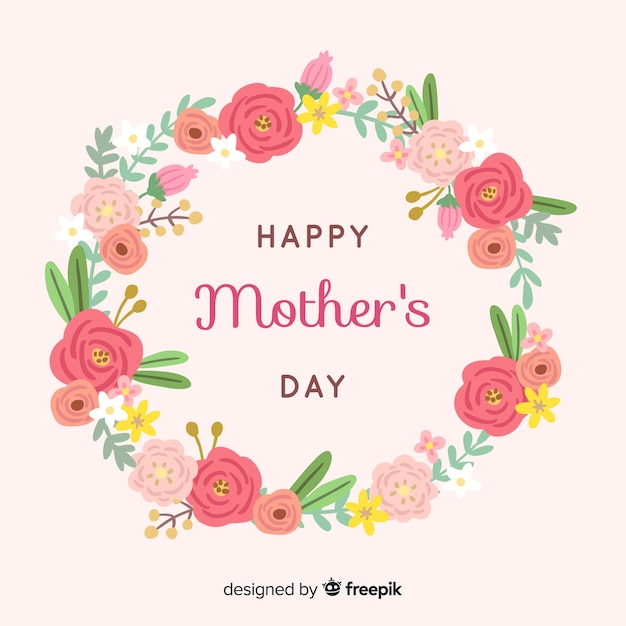 Floral mother's day background Free Vector