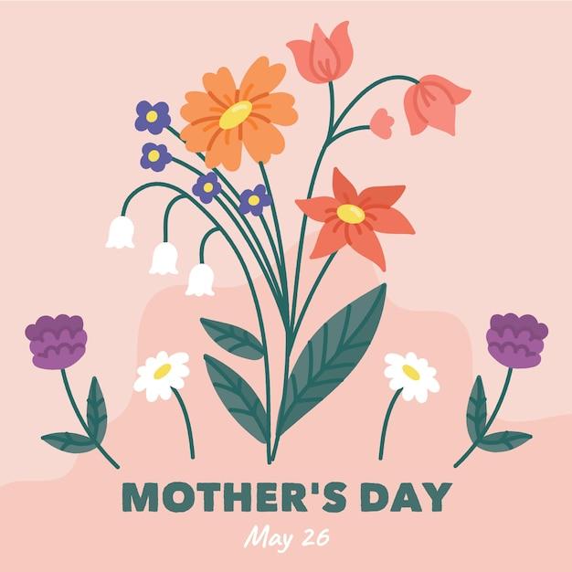 Sfondo floreale festa della mamma Vettore gratuito