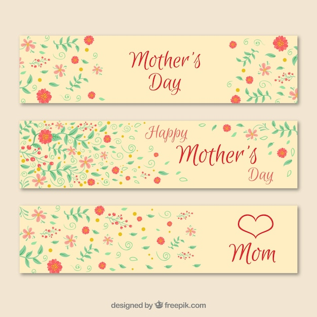 Floral mother\' s day banner