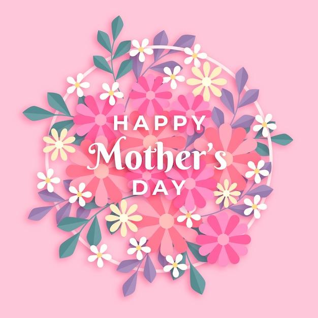 花の母の日の概念 無料ベクター