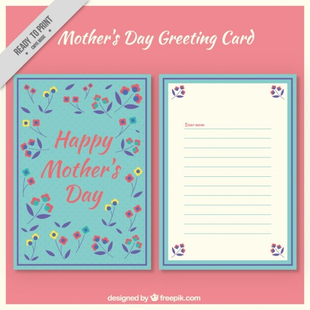 Floral mother\'s day greeting card