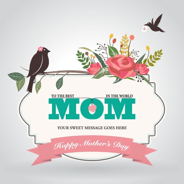 Floral mothers day background