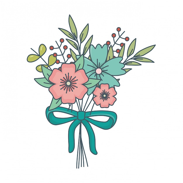 Free Vector Floral Nature Flowers Cartoon