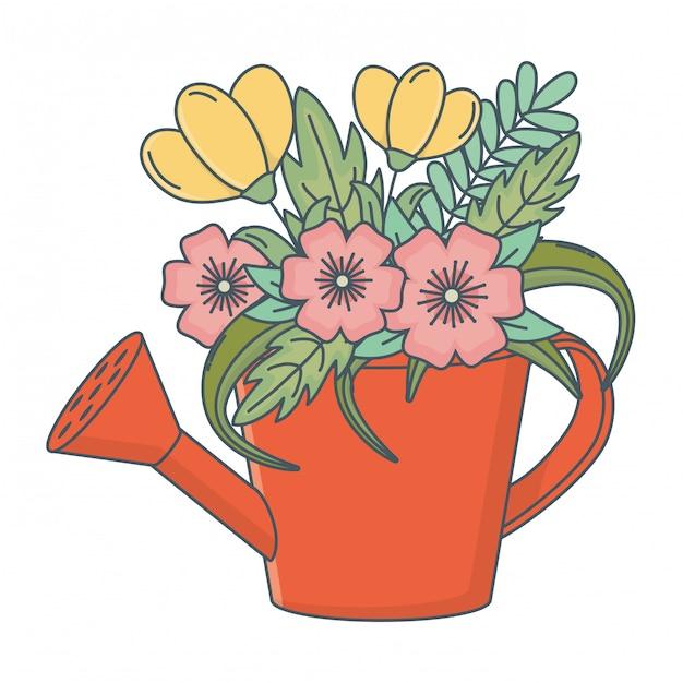 Floral nature flowers cartoon Vector