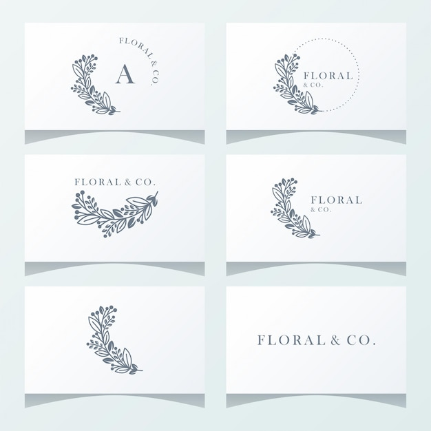 Floral ornament logo ready to use Premium Vector