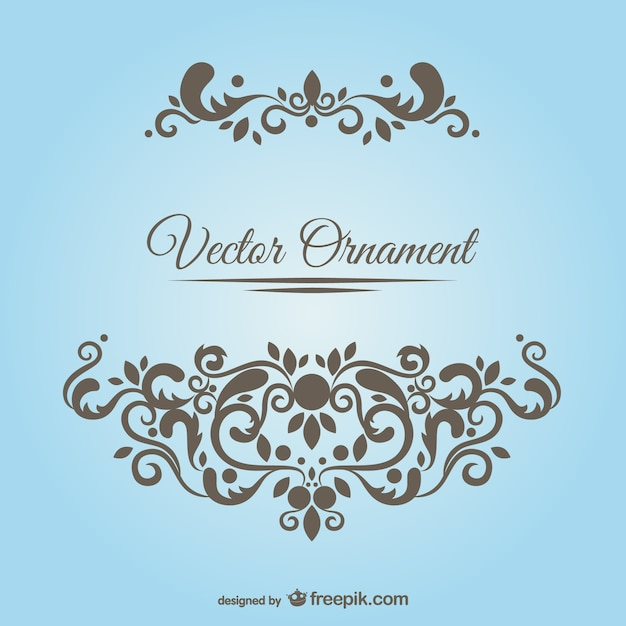 Floral ornament Free Vector