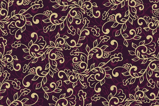 Floral ornamental pattern Free Vector