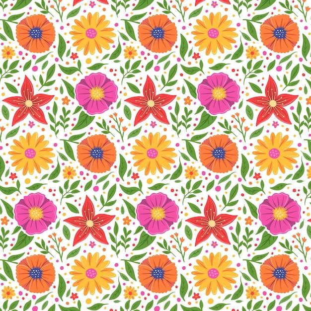 花柄コレクションのコンセプト 無料ベクター