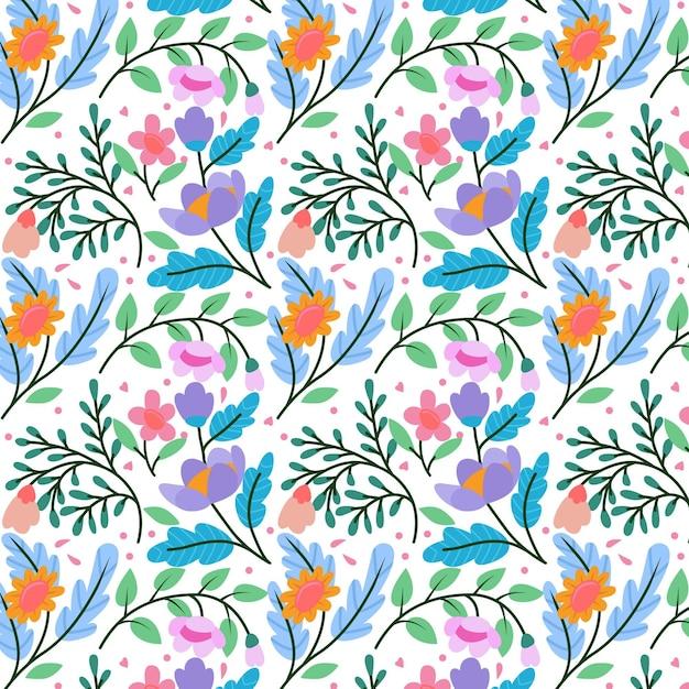 꽃 패턴 컬렉션 개념 프리미엄 벡터