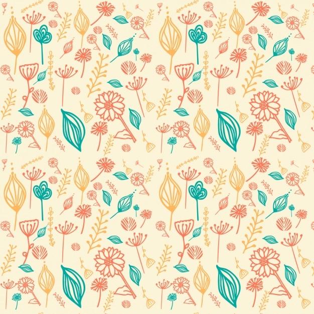Floral pattern design Free Vector