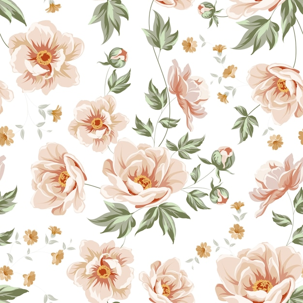 Floral pattern design Vector | Premium Download