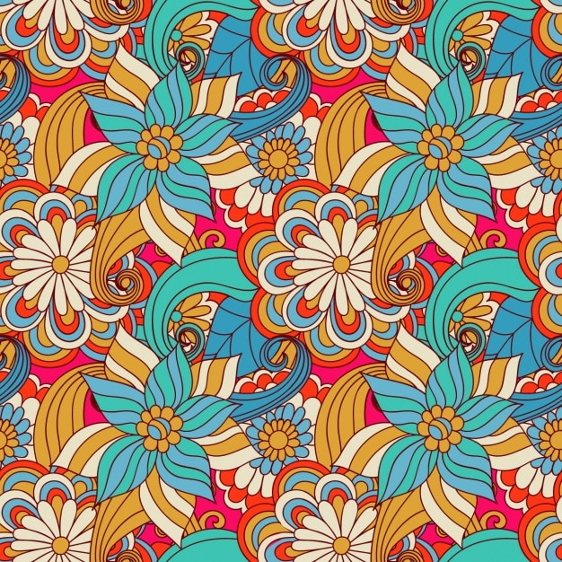 floral pattern design vector free download