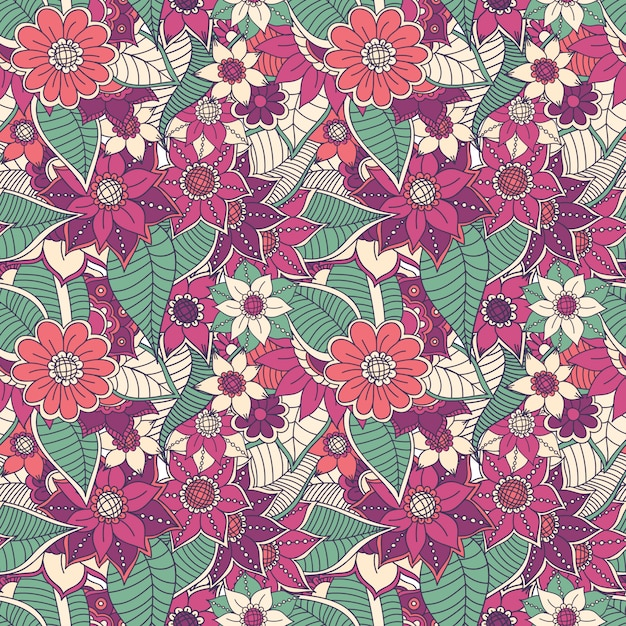 Floral pattern design Free Vector