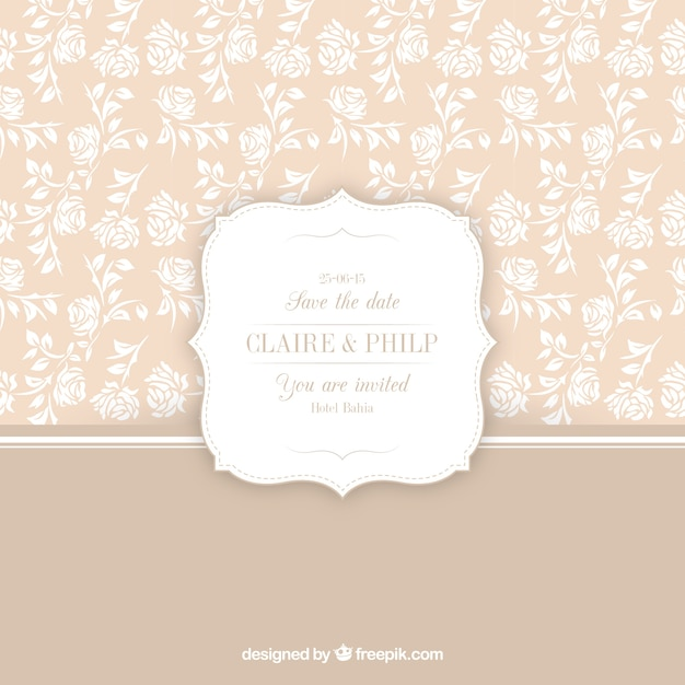 Floral pattern for wedding invitation vector free download floral pattern for wedding invitation free vector stopboris Images