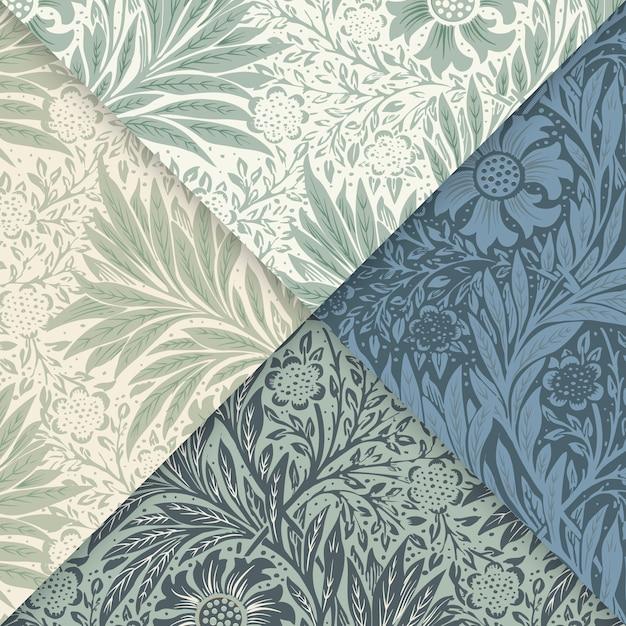 Floral pattern set Free Vector