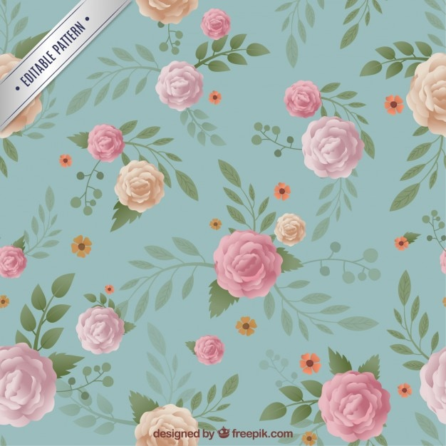 Floral pattern in vintage style Free Vector