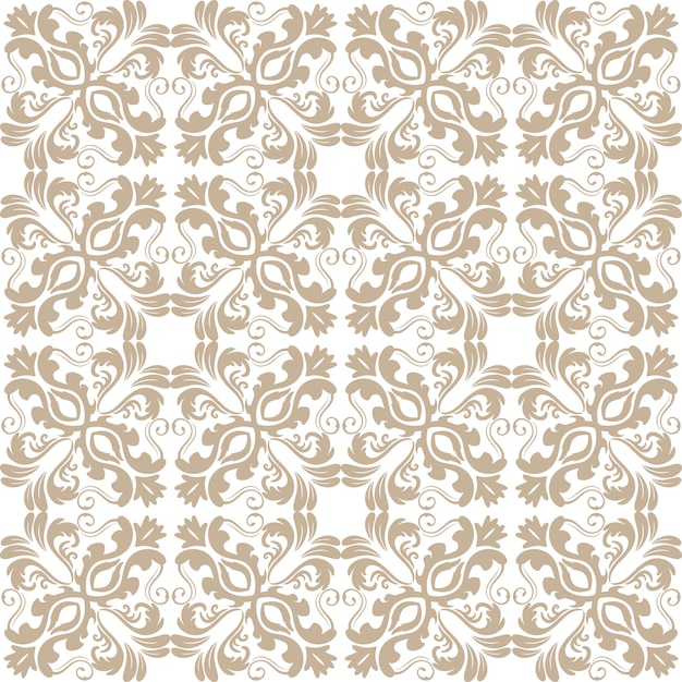 Floral pattern wallpaper baroque damask seamless vector for Ornament tapete rosa