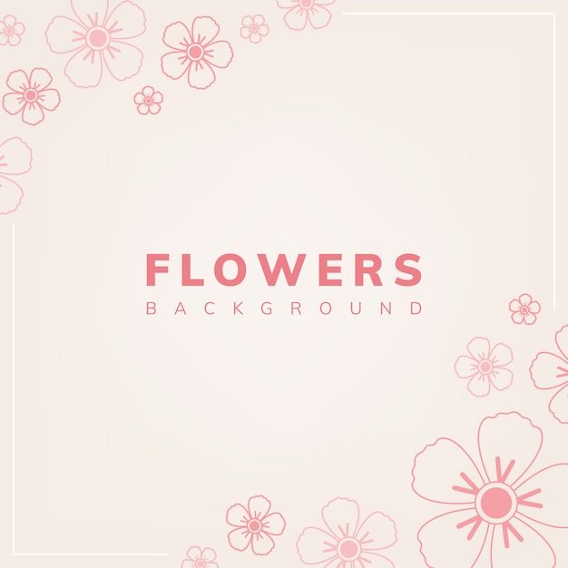 Floral pattern with a light pink background vector Free Vector