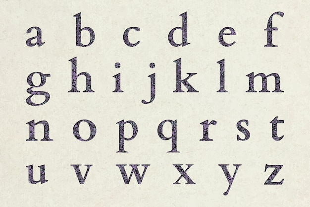 Floral patterned alphabet set Free Vector