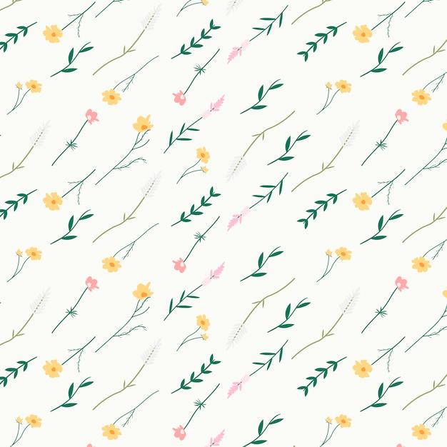 Цветочный узорчатый фон Бесплатные векторы