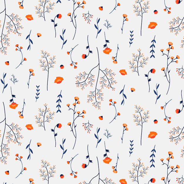 Floral patterned background Free Vector