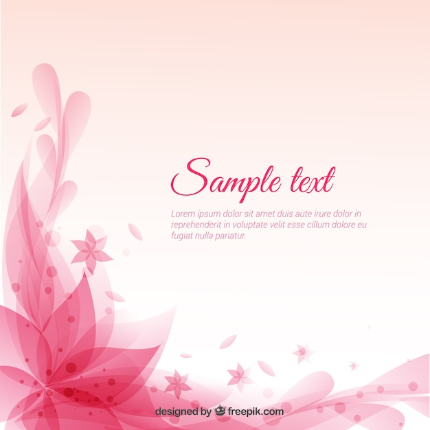 Floral pink background Vector | Free Download
