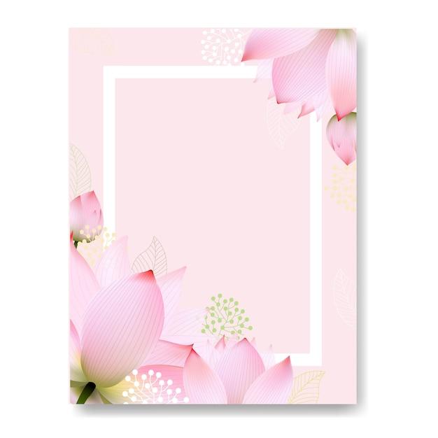 Floral postcard Premium Vector