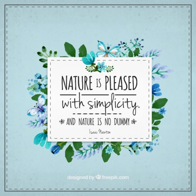 Nature Images With Quotes Download: Floral Pretty Quote About Nature Vector
