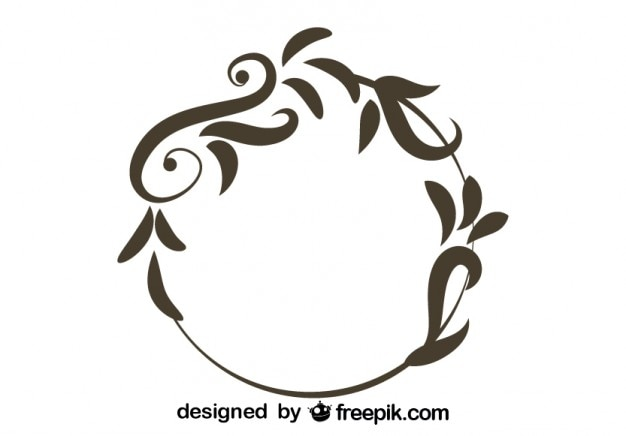 Floral Round Vintage Design_708836 on Swirl Border Stencil