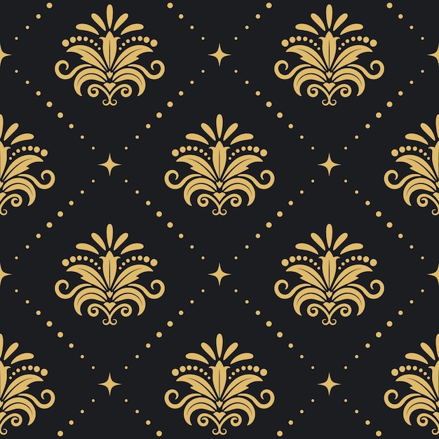 Floral royal background. seamless pattenr Free Vector