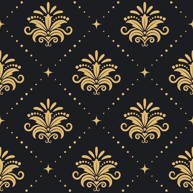 꽃 왕실 배경입니다. 원활한 패턴 무료 벡터