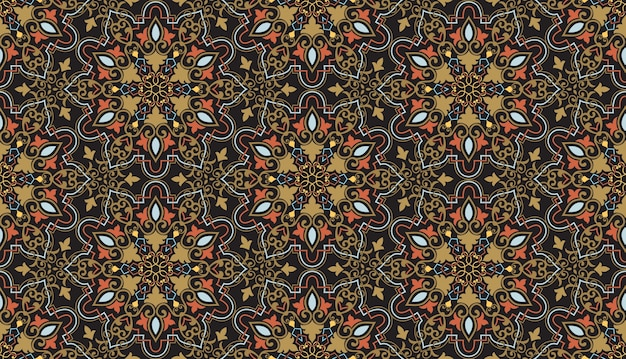 Floral seamless pattern background in arabian style Free Vector