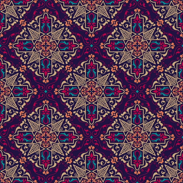 floral seamless pattern background in arabian style vector free