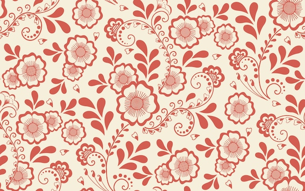 Floral seamless pattern element in arabian style. arabesque pattern. eastern ethnic ornament. Free Vector