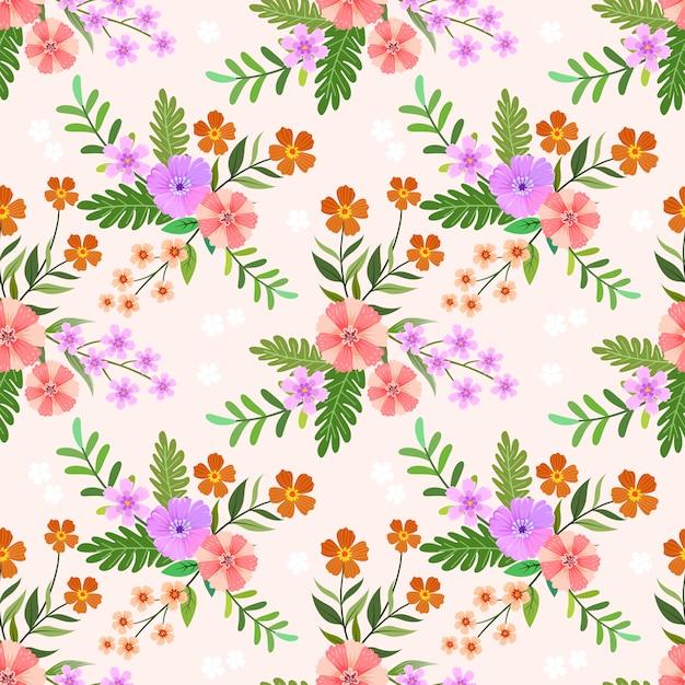 Цветочные бесшовные шаблон для текстильной ткани. Premium векторы