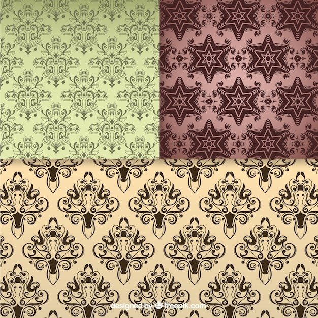 floral seamless pattern vintage backgrounds vector free
